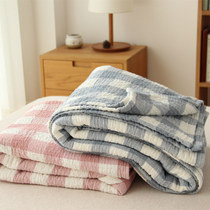 Japanese idyllic cotton breathable soft three-layer gauze cotton towel by single double multi-towel blanket sheets