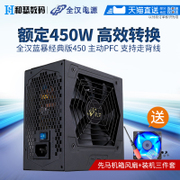 Blue Storm classic version 450 450W rated power cabiners computer silent power peak 550W