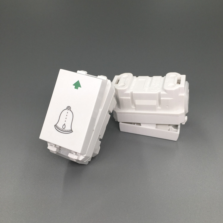 [The goods stop production and no stock]Model 128 Automatic Reset Functional Parts of Three-position Door Bell Switch Button for Small Panel Door Bell Panel