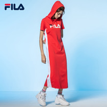 FILA Fila skirt official 2019 summer new casual sports simple and elegant hooded dress