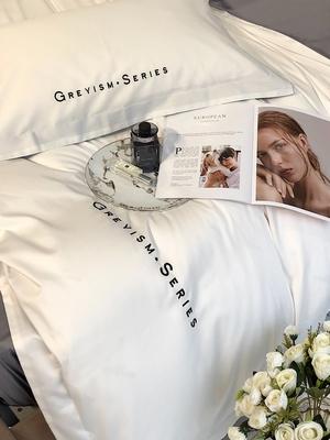 床上用品纯棉四件套100全棉北欧夏天小清新少女心白色被套公主风4