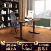 Senlon solid wood electric Lifting desk standing type can lift computer table Home Desk lifting Table