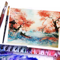 Generation of watercolor custom gouache still life figures scenery pure hand painting like painting professional decoration handmade oil painting