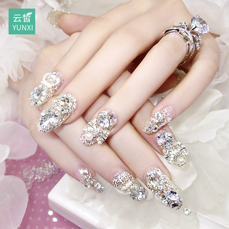 Nail patch nail sticker waterproof durable nail sticker full stickers Korea 3d wearable jewelry nail products