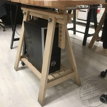 IKEA domestic purchasing Finn Wald with shelf bracket table legs Desktop leg solid wood table legs can be lifted