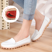 Spring and summer flat small white shoes hollow mother shoes big code shoes shoes shoes