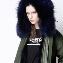 Special) Finnish Jin Kou Fox hairy inner gall thick warm removable medium long fur coat female 2 color