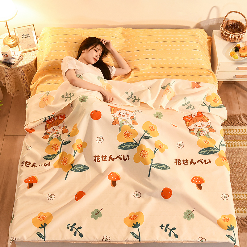Dirty sleeping bag adult single-person travel hotel bed sheets are set portable non-cotton essentials