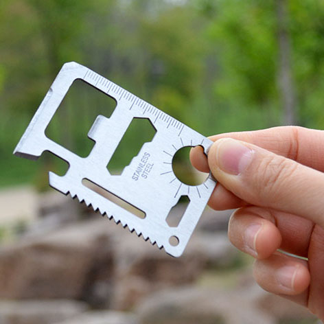 Outdoor camping supplies multi-functional Swiss Army knife card credit card portable universal tool card folding knife