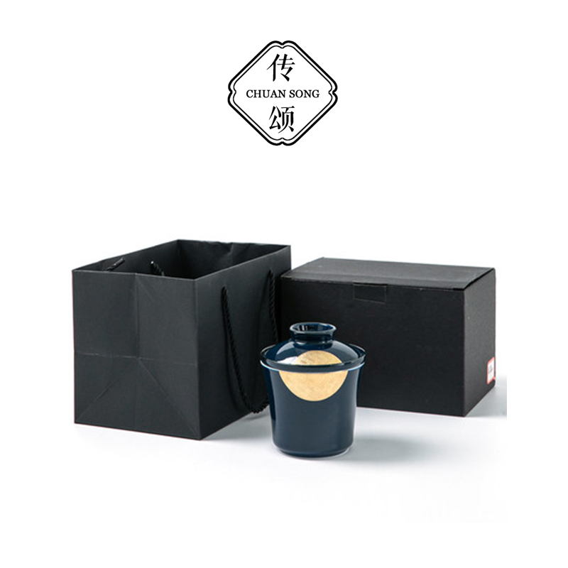 White porcelain express cup travel portable pot a cup of office kung fu tea set single filter tea cup