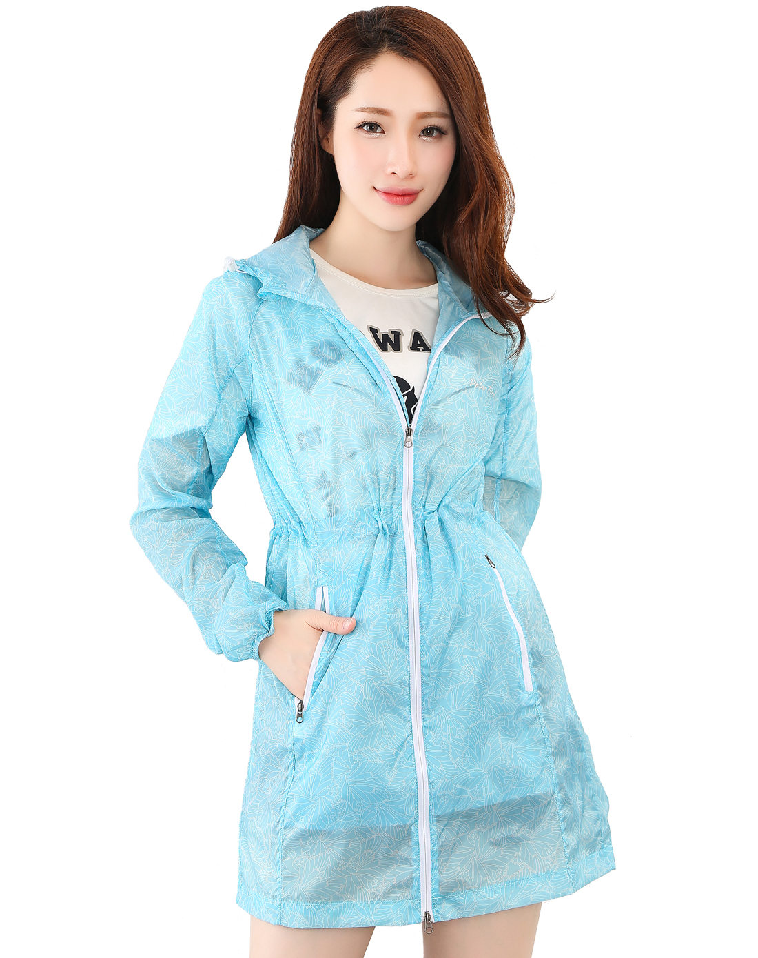 Polar Fire Skin Coat Women's Long Sports Coat Outdoor Lightweight Air-breathable Sunscreen Printed Sunscreen in Summer