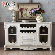 European lacquer dining Cabinets white French cupboard tea water Cabinet wine cabinet restaurant locker storage cabinets cupboard