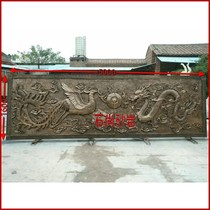 Custom-made glass steel imitation copper relief campus figures relief landscape Red Army party building legal fire culture background wall