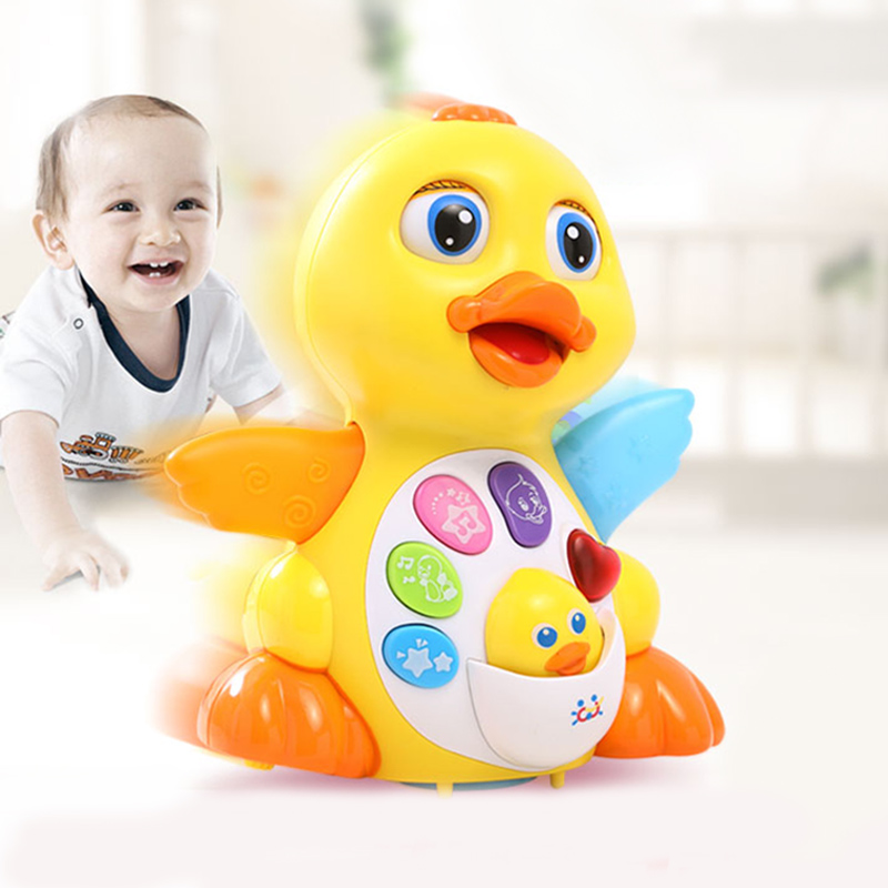 Huile Swing Big Yellow Duck Can Sing and Dance Duckling Babies Learn to Crawl 1-3 Years Old Electric Baby Toys