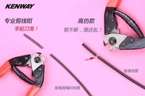 Bike straight into the bicycle shearing line core pliers inside clamp variable speed brake wire tube Repair Tool