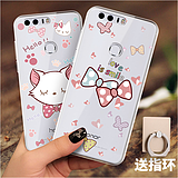 Yinguhua Huawei Glory 8 mobile phone Huawei silicone glory 8 transparent creative all-inclusive Cartoon cute anti-drop female models