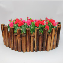 Outdoor horticultural fence carbonized anticorrosive wood fence Fence garden stake log wooden solid wood fence wooden fence garden