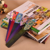 Thai school supplies Mango wood pure handmade wood bookmarks