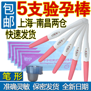 Authentic pregnancy test 5 pen +5 urine cup early pregnancy strip pregnancy test pen stick pregnant homepregnancy test package mail