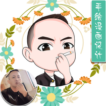 Q version of the cartoon WeChat avatar design couple logo Live Photos hand-painted characters cartoon custom
