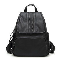 Leather Soft leather Leisure backpack