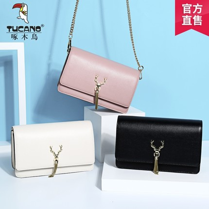 Woodpecker handbag Korean version of the new chain bag sweet fashion diagonal shoulder bag simple atmosphere Messenger small bag