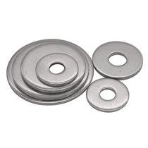 Promotional genuine 304 stainless steel C grade large flat washer m5-m24 oversized outer diameter flat gasket GB5287