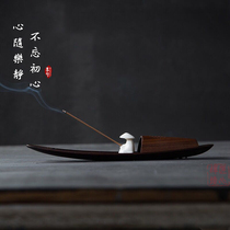 Ben Xi lonely boat overtone Zen tone player Bluetooth music box decoration incense road tea ceremony fisherman and boat incense burner incense plug