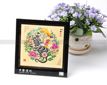 Twelve zodiac Wei County hand-cut paper painting Chinese wind paper-cut window flower frame pendant pendant home decoration painting.