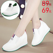2017 spring slope with increased thick bottom shoes all-match white shoes s casual pedal Kevin slip-on