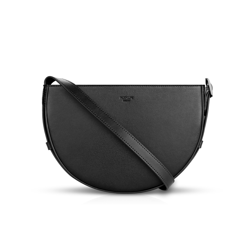 Injoylife Mori bag semi-circle saddle bag female commuter leather shoulder Messenger bag minority design bag
