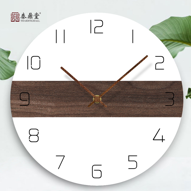 Modern Simple Household Fashion Clock Creative Hanging Wall in Living Room Nordic Bedroom Silent Individual Art Quartz Clock