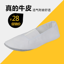 Adult high-grade male and female dance shoes gymnastics shoes practice shoes soft soles shoes yoga shoe body shoe cowhide thick Bottom