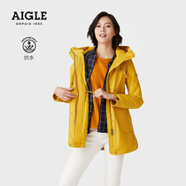 French AIGLE Aigo 20 autumn and winter FUNNY PAD F20 womens waterproof and air-resistant steam cotton clothing