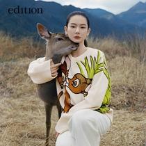 edition Disney Bambi sweater cardigan women 2021 Autumn New lazy wind WOOLMARK