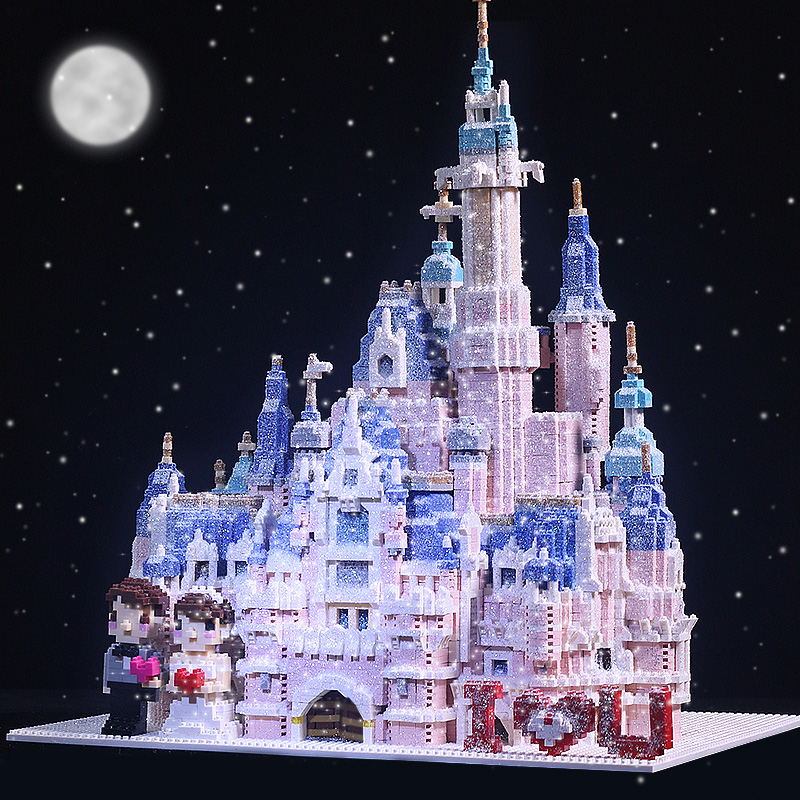 Girlfriend adult diy handmade gift flash drill jigsaw puzzle three-dimensional 3d model adult building blocks high difficult huge type