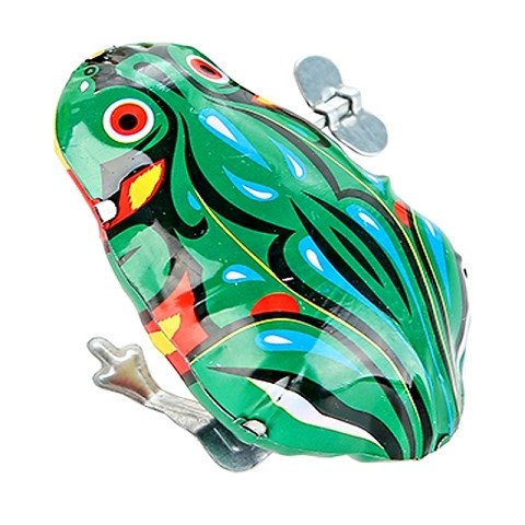 Boys Tin Frog Toys Nostalgia Projects Manual Toad Crazy Personality Children Boys Elastic Children Iron