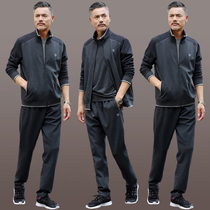 Middle-aged sports suit men spring and autumn three-piece middle-aged dad casual suit mens sports suit men