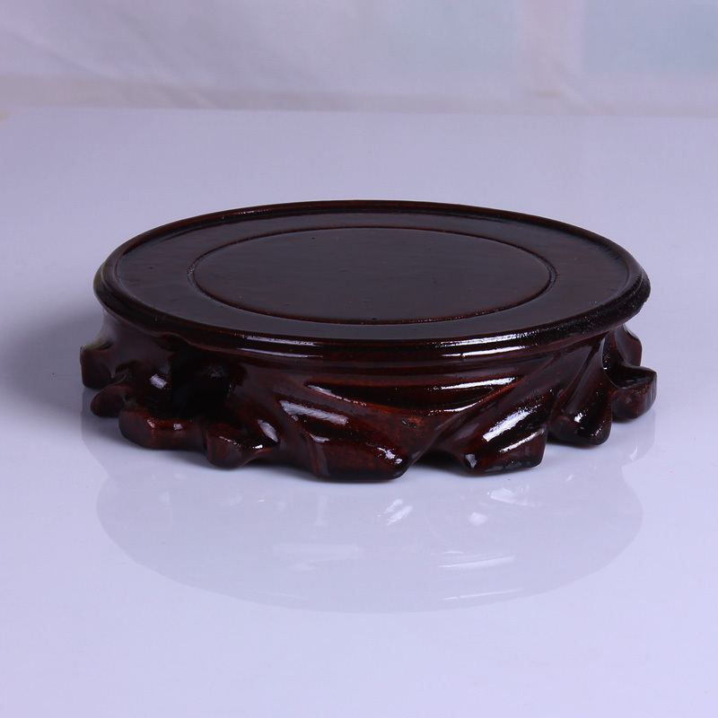 Solid Wood Handwork Root Carving Base, Wonderful Stone Vase Base, Flower Bonsai Crafts, Jade Stone Base