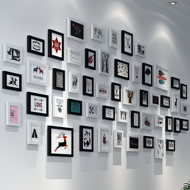 Photo Wall Decoration Modern Simple Personality Photo Frame Wall European Photo Frame Living Room Composite Photo Wall Creative Wall