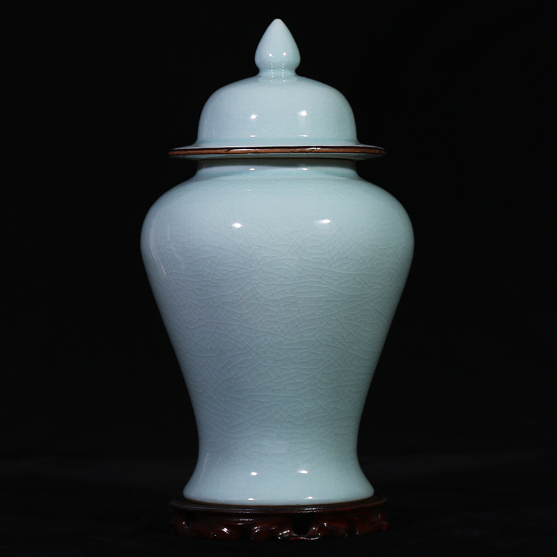 Jingdezhen Ceramic Organ Kiln Opening and Sealing Tank Candy Tank Home Jewelry Living Room Arrangement Storage Tank General Tank
