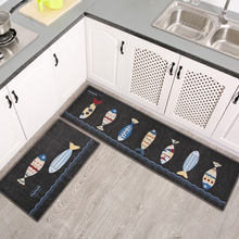 Simple modern wind kitchen mat absorbent absorbent carpet doormat mattress long strip household antiskid oil proof bathroom
