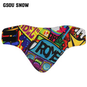 Gsou Snow handsome cute face ski ski mask triangle fleece face warm
