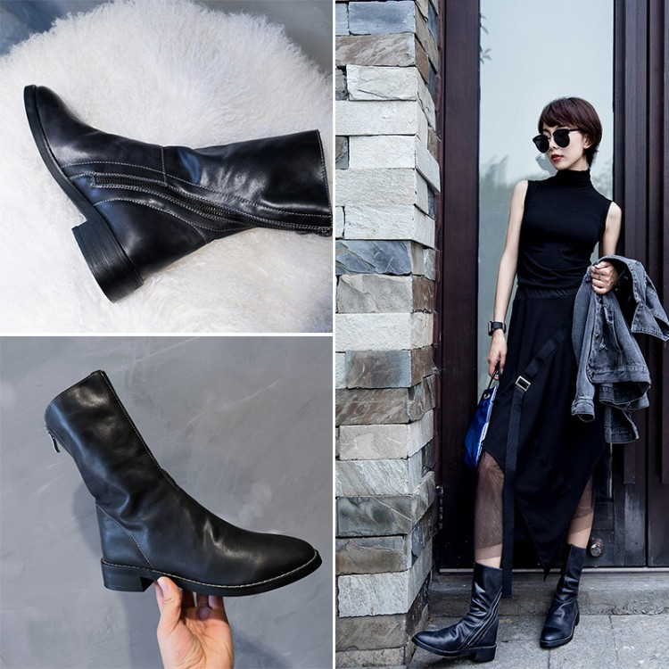 European station Martin boots female 2018 new fashion autumn women's shoes in the boots net red short boots winter Europe goods tide women's boots