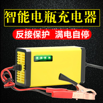 Intelligent 12V Pedal Motorcycle Battery Charger 12 KV lead-acid battery automatic universal charging machine