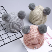 Winter baby thickened wool hat baby 1 children 0 Children 2 boys 3 girls 4 years old Korean knitted hat tide