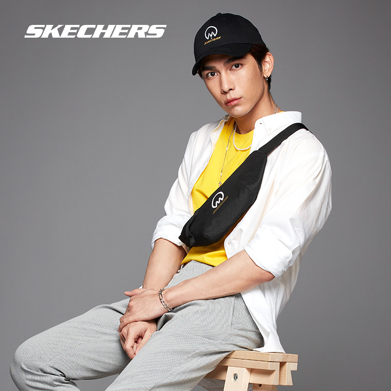 Skechers Sketch Mew co-branded a stylish casual personality street embroidered with a cap baseball cap for men and women