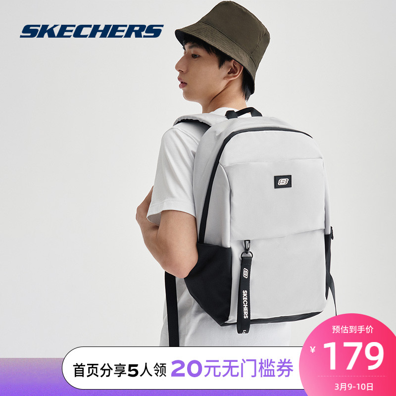 Skechers Sketchs new mens and womens simple stylish backpack student bag L320U194
