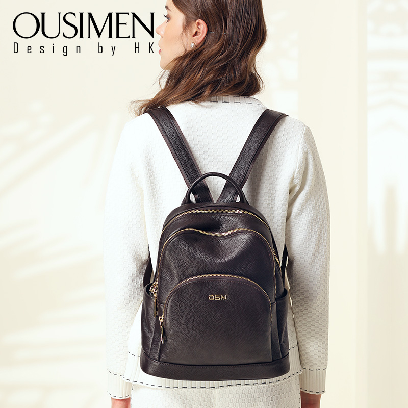 Genuine Leather Shoulder Bag woman 2019 new fashion Baitao lady bag head layer cowhide soft leather multi-purpose anti-theft Backpack