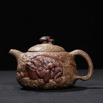 Taiwan back in the early purple sand factory old pot master Chen Guoliang made all-hand-made old Duan mud pixiu Gong Chun pot